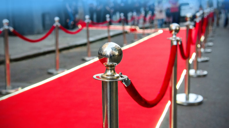 San Francisco red carpet representing celebritiesLori Loughlin and Felicity Huffman and their potential to serve time in prison.