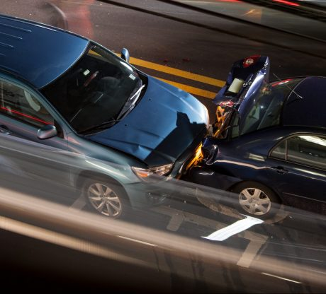 Car crashing into another on a highway, if you have been hurt in a car accident speak to Bay Area Car Collision Attorney.