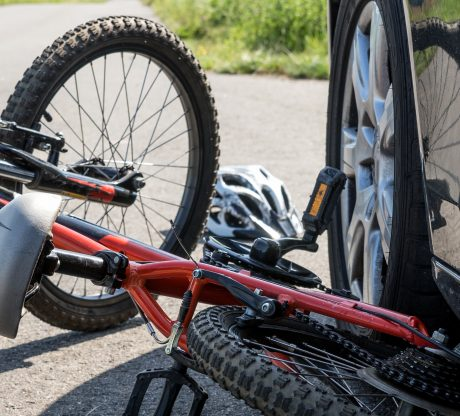 Bike that has been hit by a car on a road, a San Francisco Bicycle Injury Attorney is ready to file a lawsuit for your injuries.