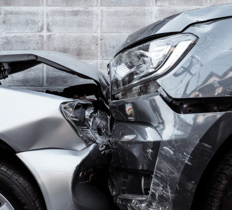 Two damaged cars that have recently been involved in accident representing how our a California car accident attorney can help you win your case.