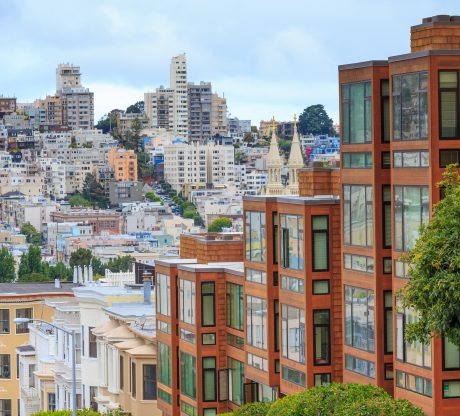 View of apartment buildings in San Francisco, be aware of your rental rights by hiring San Francisco Tenant Rights Attorney